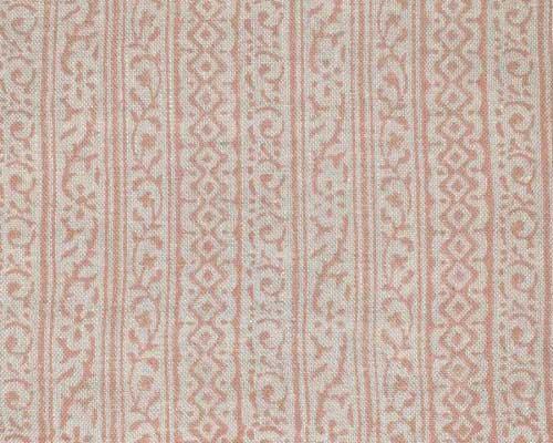 Small  design printed linen in Blush