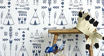 hibou blue wallpaper