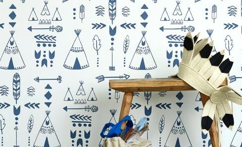 hibou blue wallpaper