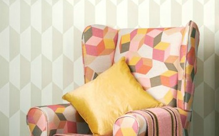 Grey And White Geometric Wallpaper