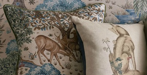 rabbit and deer cushions