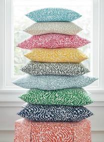 multicolour cushion stack