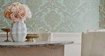 pale blue damask wallpaper
