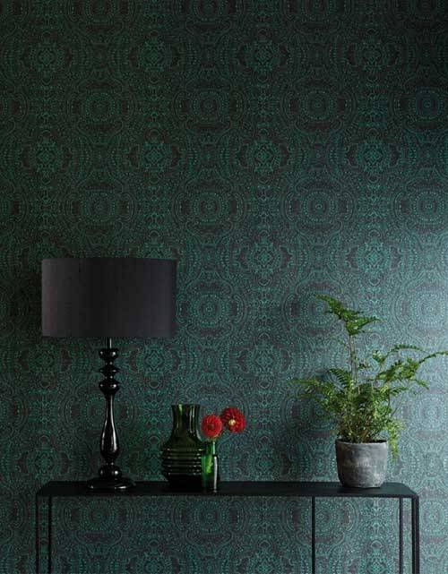 Dark Green Interior Design