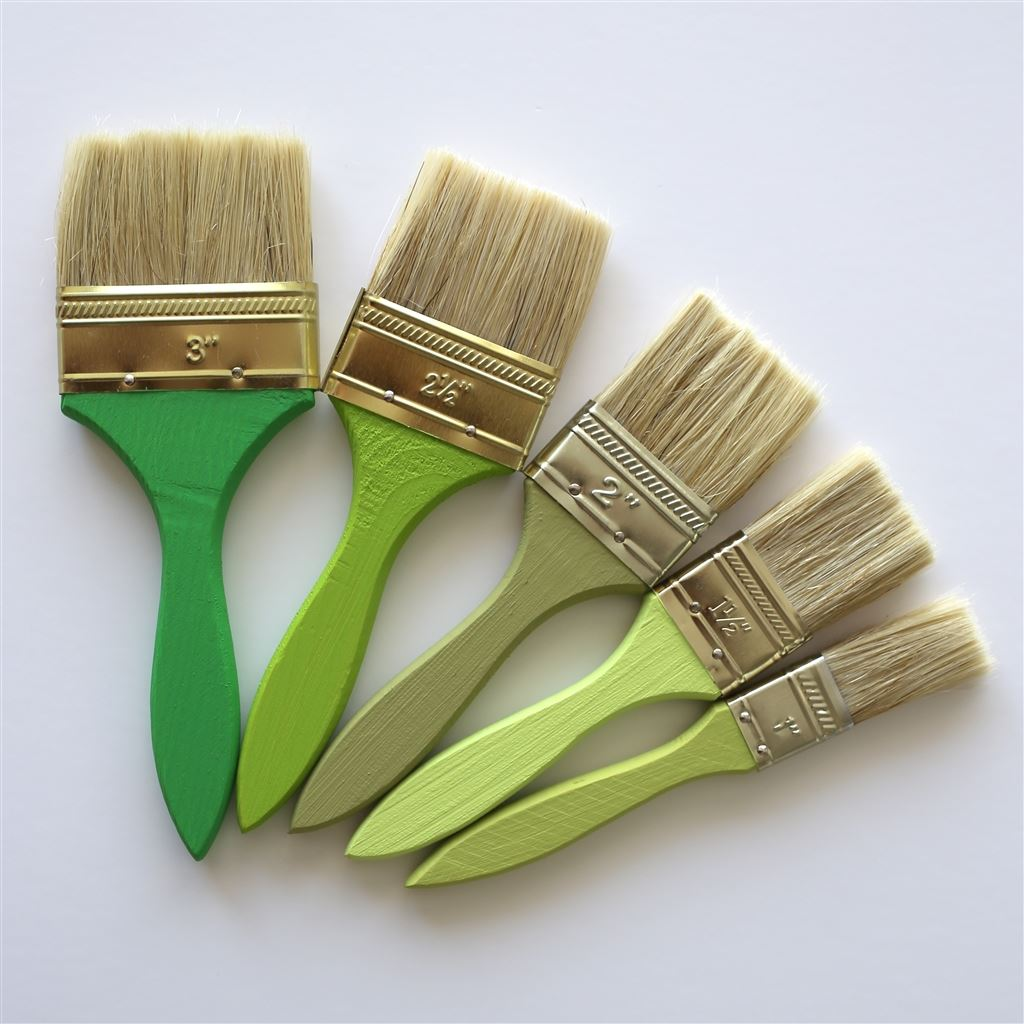 Paint brushes of assorted sizes