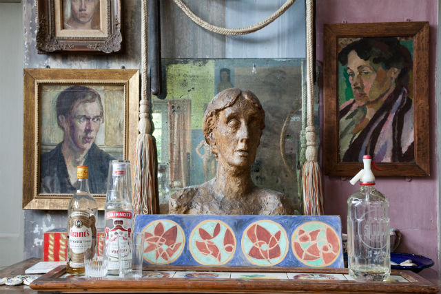 Stephen Tomlin's unfinished plaster bust of Virginia Woolf, made in 1931 when she was 49.