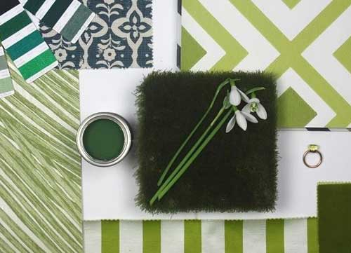Green spring moodboard from F&P Interiors