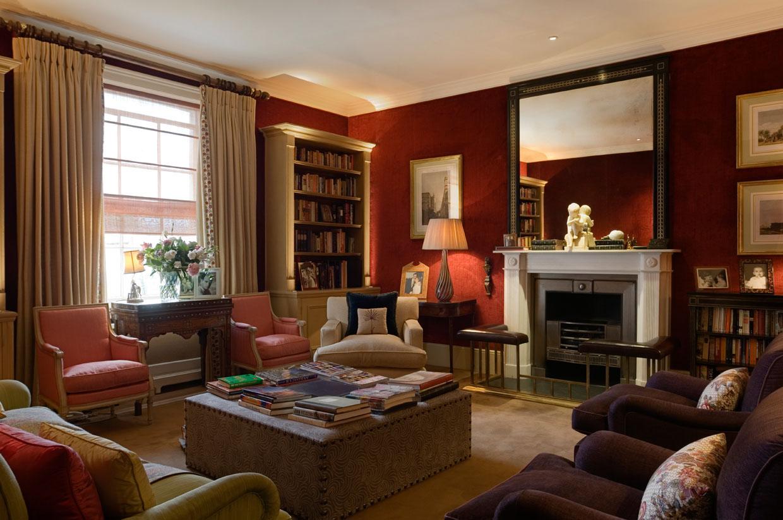 Terracotta Red Sitting Room