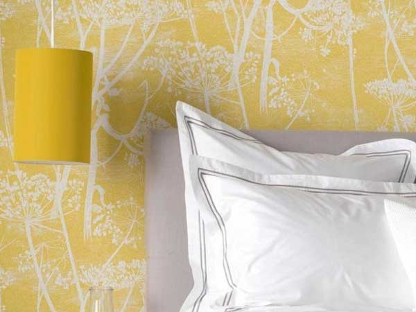 yellow cow parsley print wallpapers