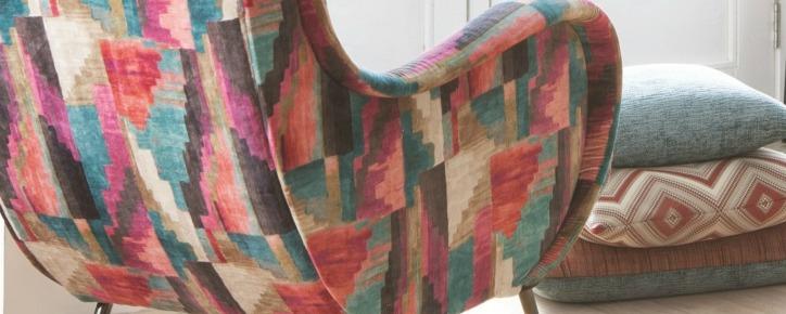 velvet stripe modern sofa