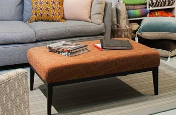 brown foot stool