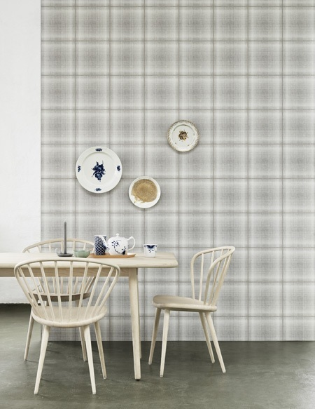 greay and white tartan wallpaper