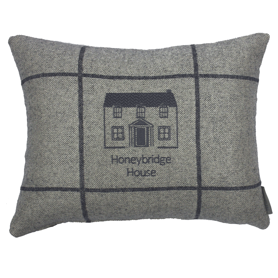 personalised house cushion