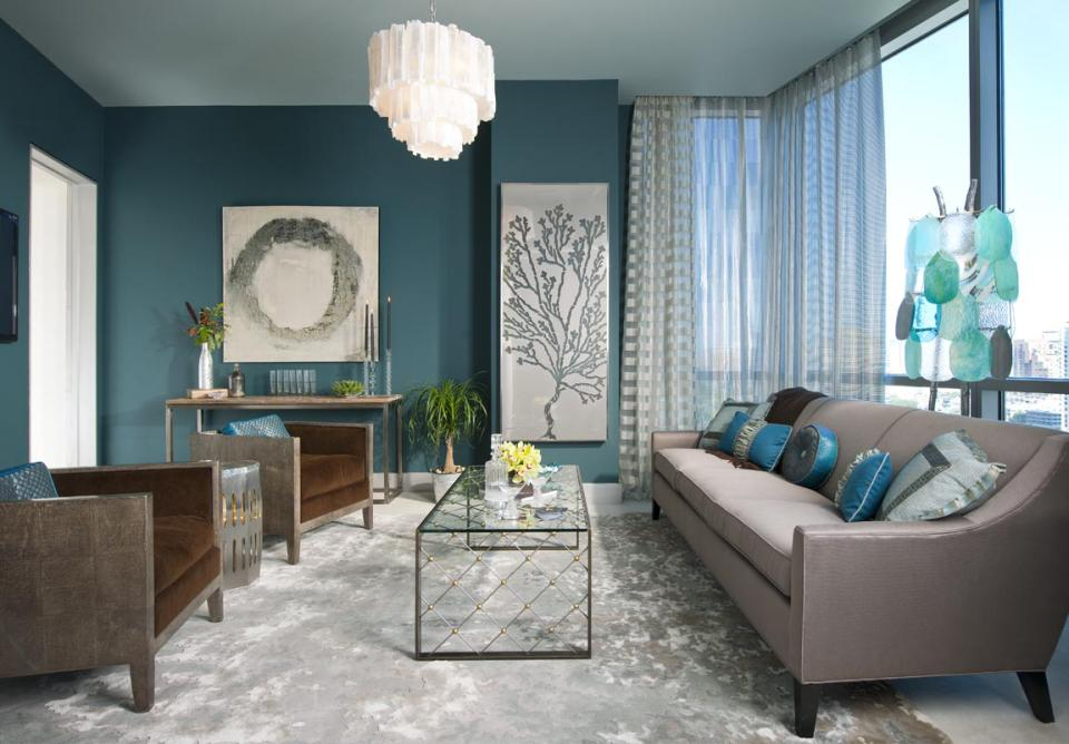 High Rise Apartment in grey and Teal