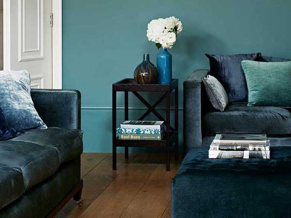 Teal and Grey Sitting Room