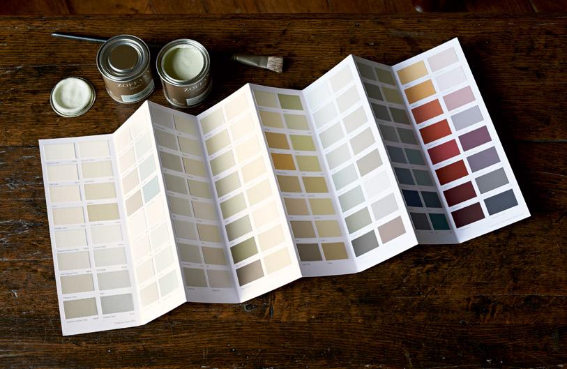 Zoffany paint card and sample pots