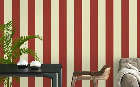 large red and white stripe wallpape