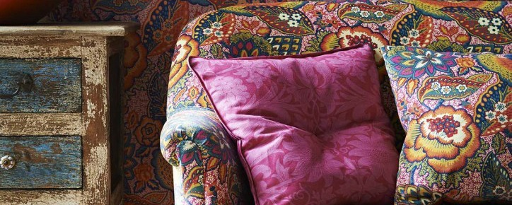 Floral sofa with floral cushions