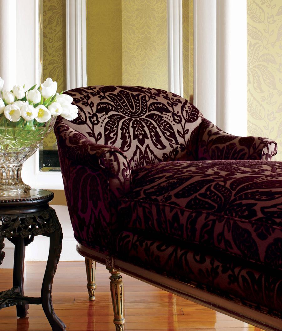 Aubergine chaise longue
