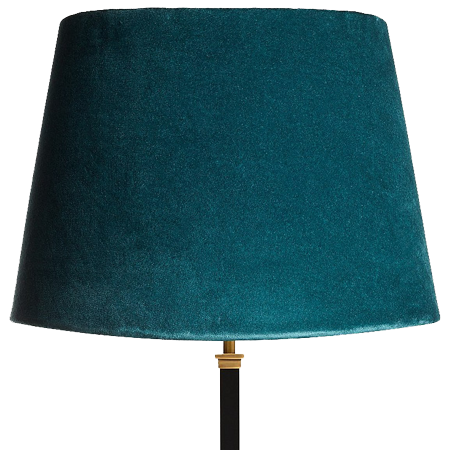 Teal Velvet Straight Empire Shade by Pooky