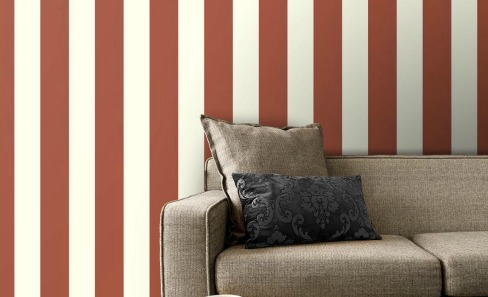 blue and white vertical stripe wallpaper