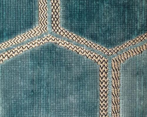 Manipur Velvet Upholstery Fabric in Duck Egg