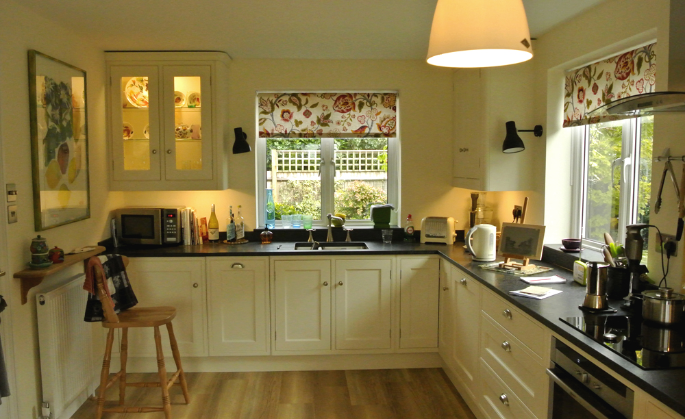 Floral Roller Blinds For A Country House Kitchen