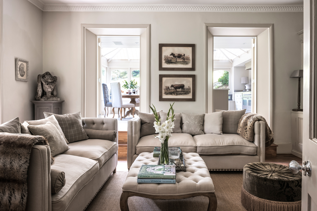 A living room in all shades of Neutral