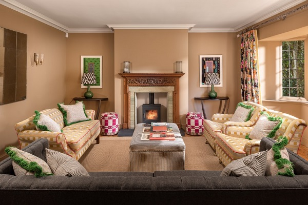 Multicoloured Modern Country Sitting Room