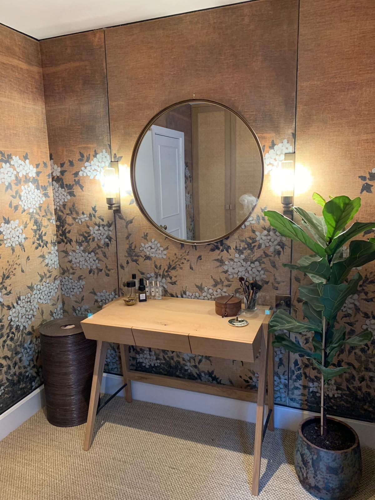 Custom Wall Mural  Chinoiserie Wallpaper  Dressing Room Ideas