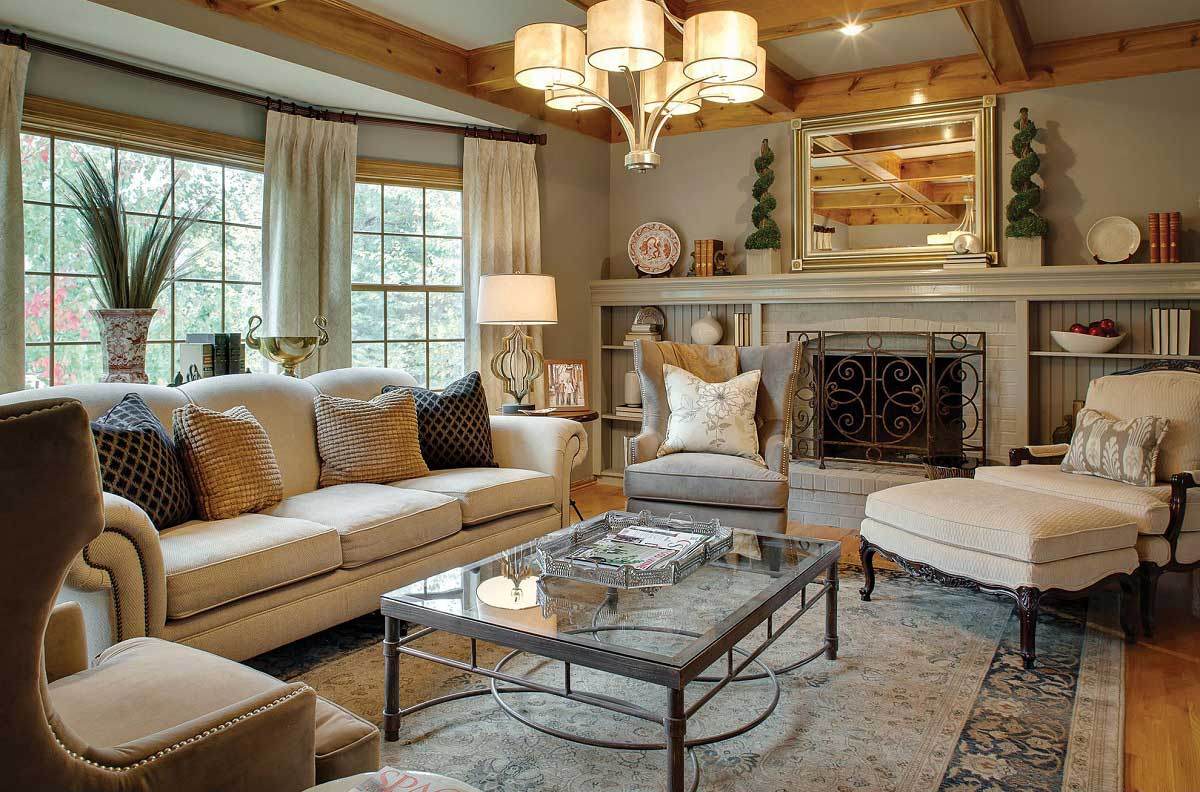 Neutral Cottage Living Room Ideas