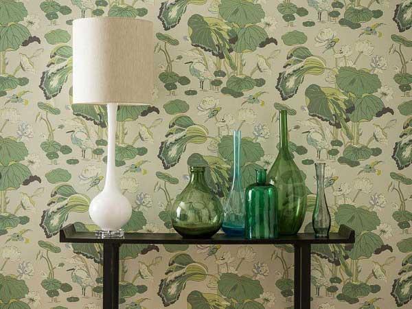 Botanical Print Fabric and Wallpaper