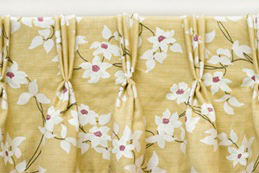 Hand triple pleat curtains