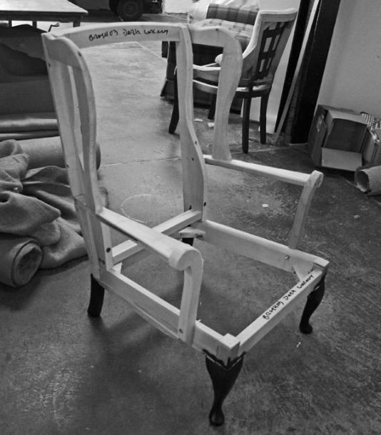 wooden armchair frame