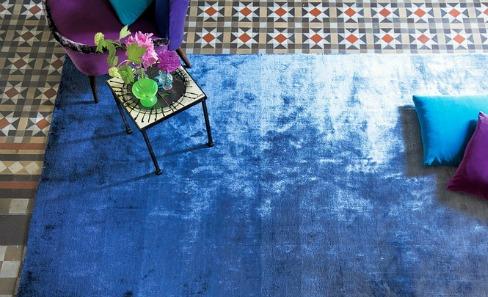 blue shimmer rug