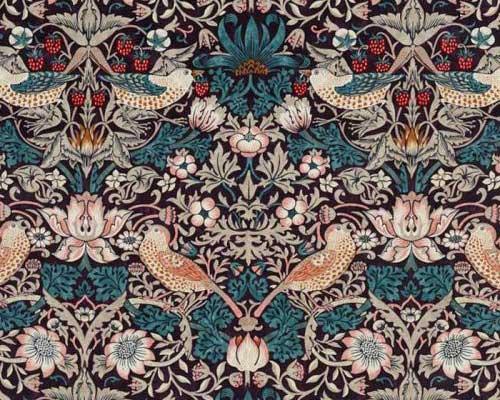 Strawberry Thief Velvet Fabric