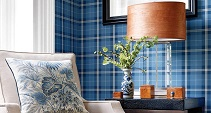dark and light blue tartan wallpaper