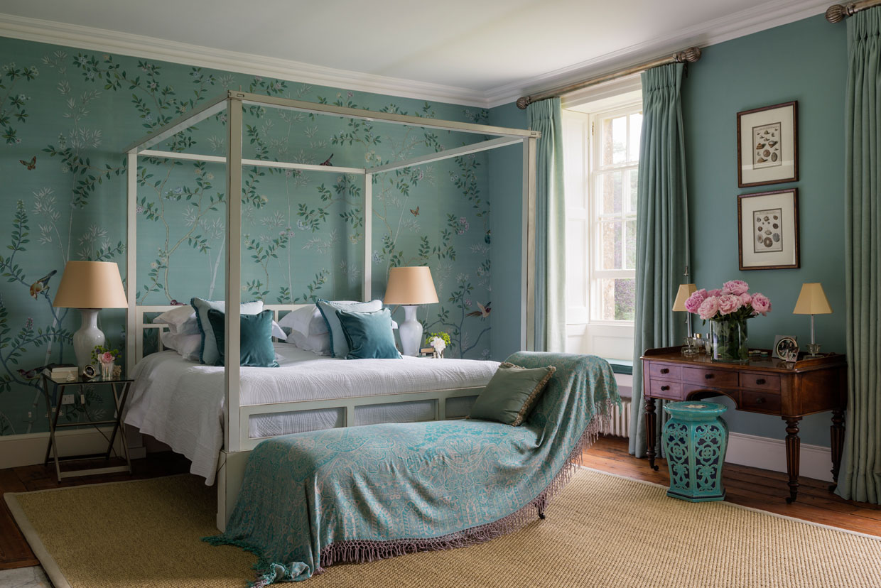 Jade Bedroom with four poster bed