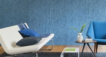 gold and blue lattice textured wallpaper