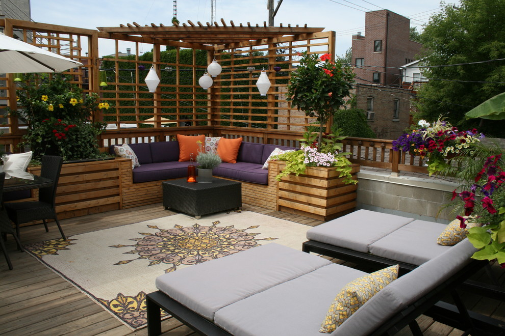 Beautiful City Roof Terrace With Seating Areas