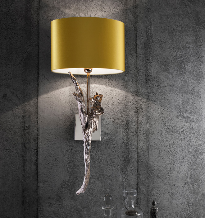 Wall Lights in different metal finishes