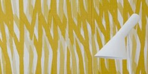 yellow and white zig zag wallpaper